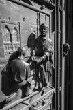 Gli elementi della decorazione sulla facciata della cattedrale dei san Vitus Fotografia Stock Libera da Diritti