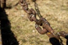Gli elementi di fissaggio della catena Collegamenti a catena immagini stock libere da diritti