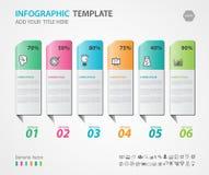 Gli elementi di Infographics diagram con 6 punti, le opzioni, l'illustrazione di vettore, 3d l'icona rettangolare, la presentazio Immagini Stock Libere da Diritti