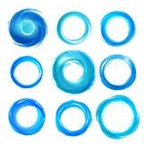 Gli elementi di progettazione in blu colora le icone. Insieme 5 Fotografie Stock Libere da Diritti