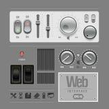 Gli elementi di Web UI progettano il Gray. Fotografie Stock