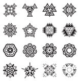Gli elementi geometrici astratti, modellano l'Azteco o Maya Vector etnico Fotografia Stock Libera da Diritti