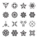 Gli elementi geometrici astratti, modellano l'Azteco o Maya Vector etnico Immagine Stock