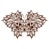 Gli elementi hanno dipinto la farfalla con hennè Fotografie Stock Libere da Diritti