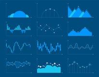 Gli elementi infographic dei grafici e dei grafici di affari vector il illustrat Immagini Stock