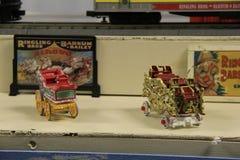 Gli elementi miniatura del collettore dentro Oswego Railroad il museo, New York, 2016 Fotografie Stock Libere da Diritti