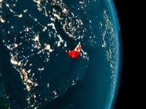 Gli Emirati Arabi Uniti alla notte Fotografie Stock Libere da Diritti