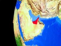 Gli Emirati Arabi Uniti da spazio illustrazione vettoriale