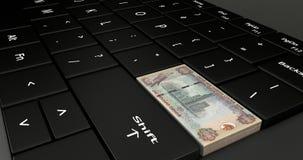 Gli Emirati Arabi Uniti mille dirham Fotografia Stock