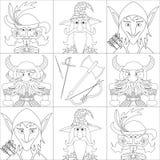Gli eroi di fantasia, hanno messo l'avatar, contorno illustrazione di stock