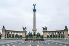 Gli eroi quadrano a Budapest, la capitale dell'Ungheria Fotografia Stock Libera da Diritti
