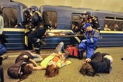 Gli esercizi di ministero di emergenze fotografie stock