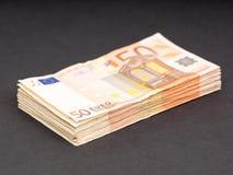 Gli euro soldi mettono in serbo Immagine Stock Libera da Diritti