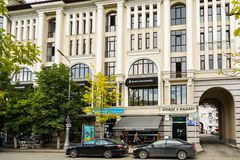 Gli hamburger della stella del nero del ristorante si sono aperti in Groznyj, Cecenia Fotografia Stock Libera da Diritti