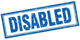 gli handicappati timbrano illustrazione vettoriale