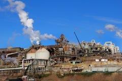 Gli impianti dello zinco, Hobart Tasmania Immagine Stock