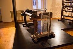 Gli impianti di seta di San Lucio, Caserta, tesse tessendo la seta dei bourbon immagini stock libere da diritti