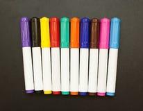 Gli indicatori hanno colorato la scuola del disegno per i bambini e gli adulti Fotografia Stock Libera da Diritti