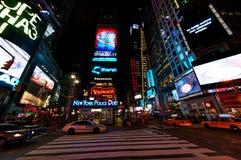 Gli indicatori luminosi del Times Square Fotografie Stock Libere da Diritti
