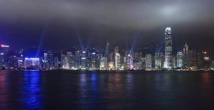 Gli indicatori luminosi mostrano a Hong Kong Immagini Stock Libere da Diritti