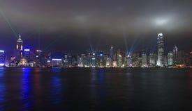 Gli indicatori luminosi mostrano a Hong Kong Immagini Stock