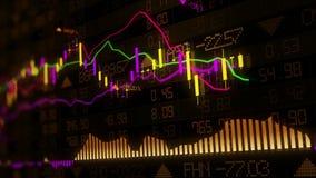Gli indici del mercato azionario stanno muovendo nello spazio virtuale Sviluppo economico, recessione collegato royalty illustrazione gratis