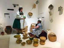 Gli indigeni esibiscono al museo di Pumapungo a Cuenca, Ecuador fotografia stock libera da diritti