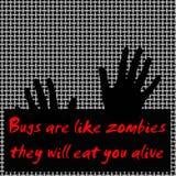 Gli insetti gradiscono gli zombie royalty illustrazione gratis