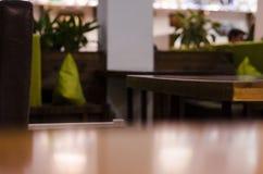 Gli interni del ristorante si chiudono sulla vista immagine stock libera da diritti