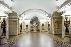 Gli interni della stazione della metropolitana fotografia stock libera da diritti