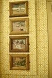 Gli interni e l'arte obietta ad una bella casa di campagna vicino a Leeds West Yorkshire che non è una proprietà di fiducia nazio Fotografia Stock Libera da Diritti