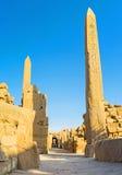 Gli obelischi della regina Hatshepsut Fotografia Stock