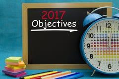 Gli obiettivi di 2017 nuovi anni Fotografia Stock Libera da Diritti