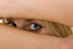 Gli occhi è uno specchio di anima Fotografia Stock