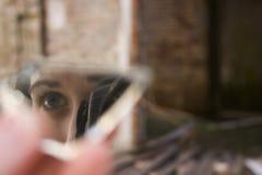 Gli occhi del fotografo Fotografie Stock Libere da Diritti