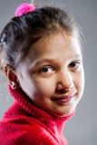 Gli occhi della bambina si chiudono sul ritratto fotografie stock libere da diritti