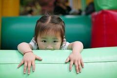 Gli occhi della piccola ragazza cinese Immagini Stock