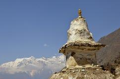 Gli occhi di Buddha su Stupa nel Nepal Fotografia Stock