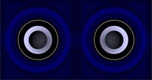 Gli occhi di musica Immagini Stock Libere da Diritti
