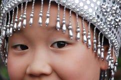 Gli occhi di una ragazza cinese Fotografia Stock