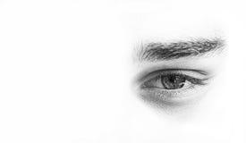 Gli occhi si chiudono in su fotografie stock