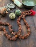Gli oggetti asiatici tradizionali per la meditazione e si rilassano Immagini Stock Libere da Diritti