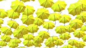Gli ombrelli astratti che salgono nell'aria avvolgono il fondo stock footage