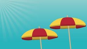 Gli ombrelli di spiaggia aprono la definizione di HD illustrazione di stock