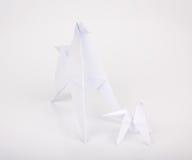 Gli origami del nuovo anno 2014 incartano il cavallo. Fotografia Stock Libera da Diritti