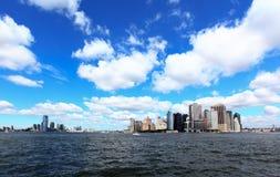 Gli orizzonti del Lower Manhattan Fotografia Stock
