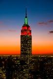 Gli orizzonti di Manhattan e delle Empire State Building Fotografia Stock Libera da Diritti