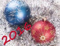 Gli ornamenti 2016 del nuovo anno Immagine Stock