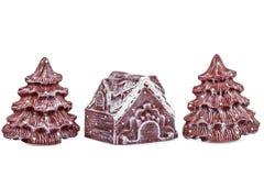 Gli ornamenti di Natale e del nuovo anno, isolati su fondo bianco Fotografia Stock Libera da Diritti