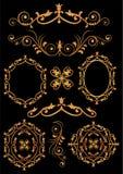 Gli ornamenti hanno messo 5 Immagini Stock Libere da Diritti